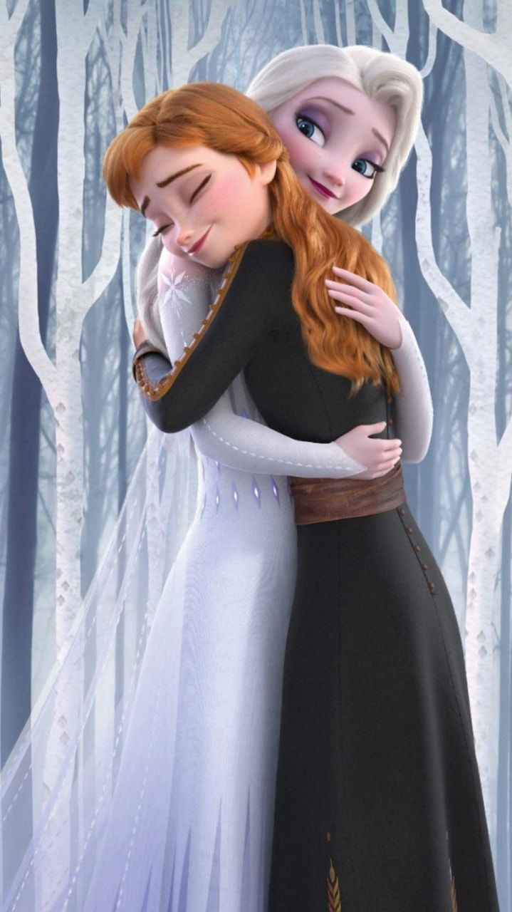 Image Uploaded By Marvelousgirl94 Find Images And Videos About Love Hug And Sisters On We In 2020 Disney Princess Wallpaper Disney Princess Elsa Frozen Disney Movie