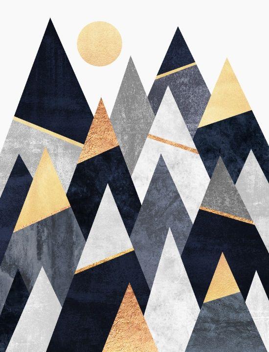 Fancy mountain prints