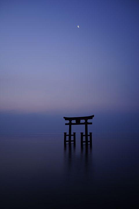 Torii gate of Shirahige shrine, Japan