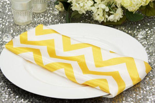 chevron yellow napkin
