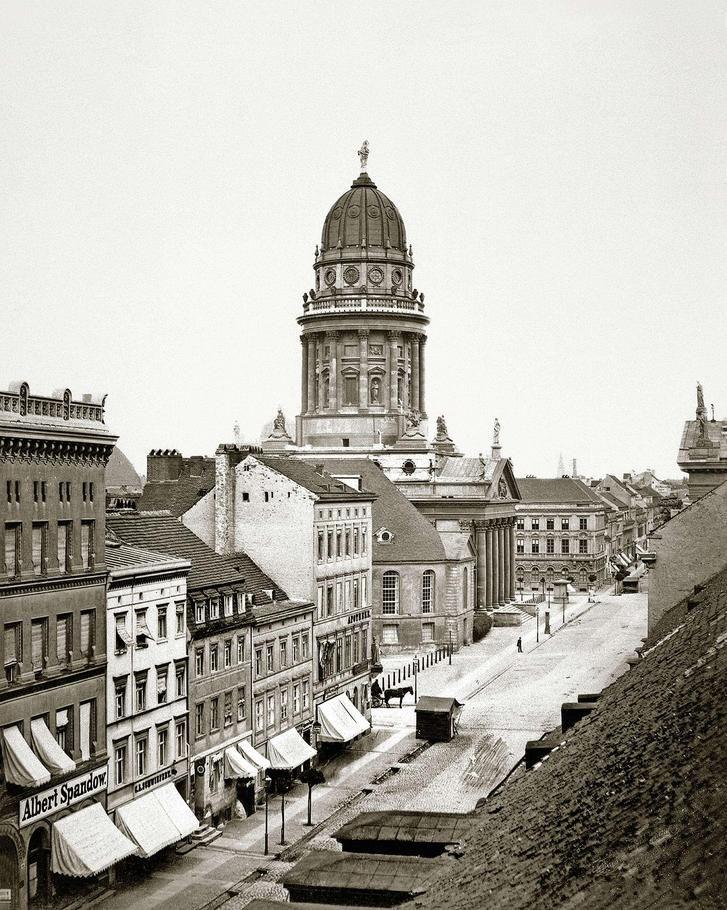 Jägerstraße und Französischer Dom.. 1865