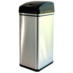 Recommended as diaper pail... iTouchless 13-gallon Deodorizer Filtered Stainless Steel Sensor Trash Can