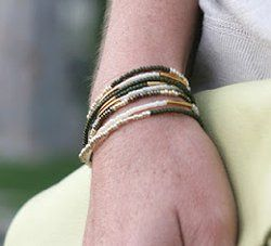 Whether worn stacked or singular, these Dainty Stackable Seed Bead Bracelets make the perfect sophisticated accessory.