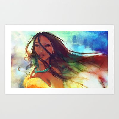The Wind... Art Print by Alice X. Zhang
