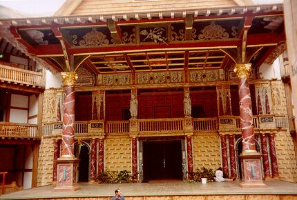 The Stage at The Globe Theatre - stood on that very stage in 2000 with some great friends and great kids and performed a soliloquy from the Scottish Play (MB) in front of an audience