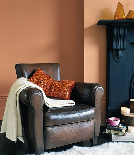 Feature Wall : A Striking Wall Turns An Ordinary Room Into An ... Orange  Living ... Part 47