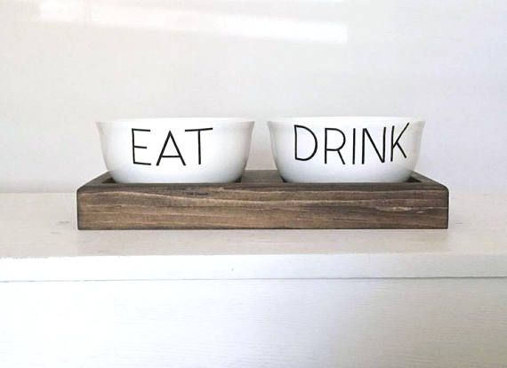 For that cool minimalist dog. Pet Bowls | Dog Bowl Feeder | Cat Bowl Feeder | Food and Water Bowl | Pet Accessories | New Puppy Gift | Personalized dog Bowls | Pet Bowls