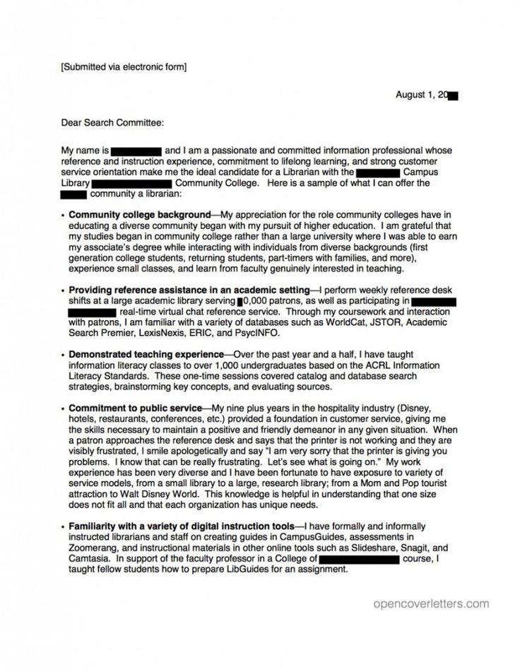 Cover Letter For Teaching