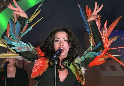 "May 9, 1998 - The 43rd Eurovision Song Contest, held in Birmingham, United Kingdom, is won by Israel's transsexual performer Dana International with the song ""Diva"""