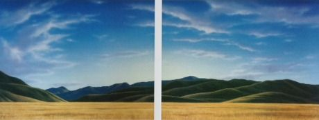 Check out Near Lindis Pass Diptych by Blair Greig at New Zealand Fine Prints