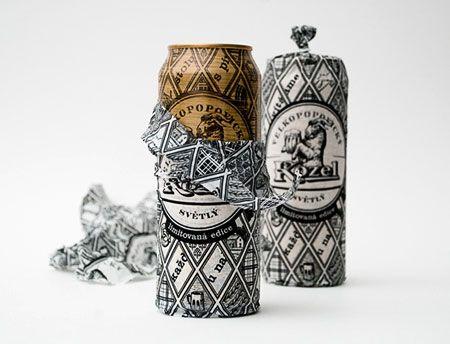 WEIRD Velkopopovicky Kozel Beer Can Packaging