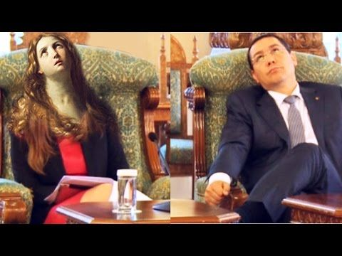 Victor PONTA Ministra Harvard Ioana Petrescu la Cotroceni Discutia cu Traian Basescu @ reducerea CAS - YouTube