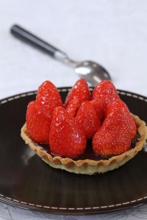 Tartelettes chocolat-fraises | Cuisine : Les fraises se la ramènent ...