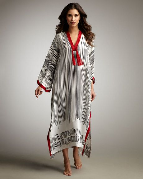 Striped Caftan - Lyst
