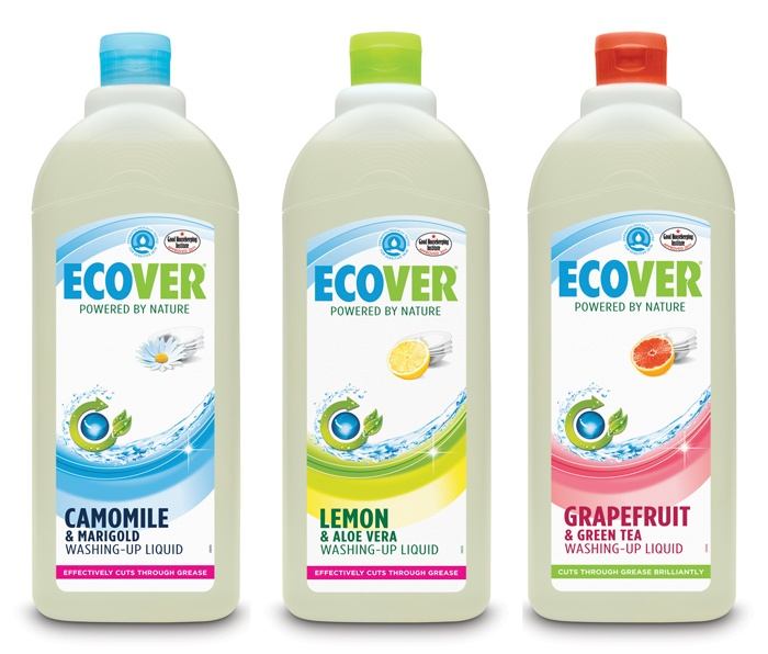 Ecover cleaning products - environmentally friendly, and they smell nice!