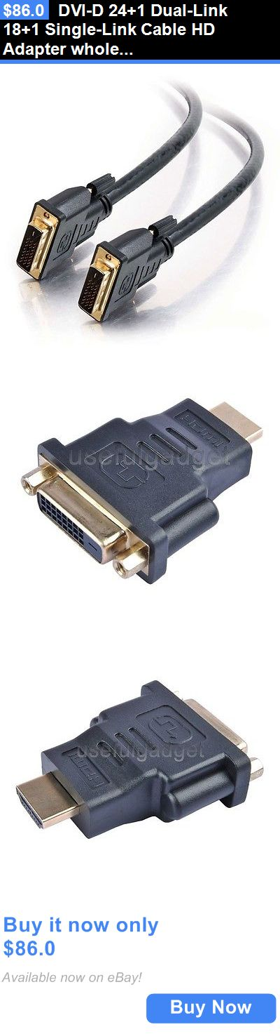 Video Cables and Interconnects: Dvi-D 24+1 Dual-Link 18+1 Single-Link Cable Hd Adapter Wholesale BUY IT NOW ONLY: $86.0