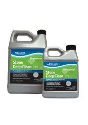 Aqua Mix Stone Deep Clean - Quart by Aqua Mix. $8.59. Concentrated heavy-duty cleaner. Removes waxes and floor finishes. Effectively removes dirt and grime from neglected foors. Use on all natural stone (such as granite, limestone, slate, and travertine), ceramic, porcelain, grout, quarry, saltillo, terra cotta, cement pavers, masonry surfaces, linoleum, or resilient flooring.. Save 14% Off!