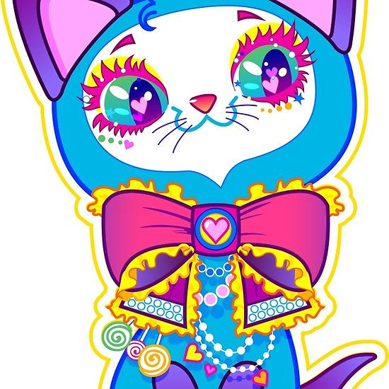 Kawaii and cute Blue Crystal Kitty