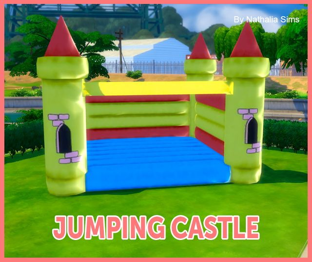 Christmas Decorations On Sims 3: Jumping Castle Deco Conversion 2t4 At Nathalia Sims €� Sims