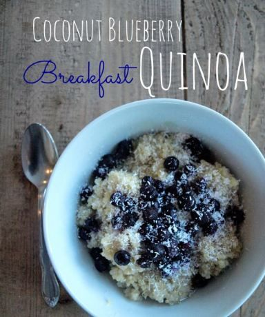 Coconut blueberry breakfast quinoa {vegan, gluten free} This is a healthy breakfast recipe that is easy to make and tastes delicious.  My whole family loved this.