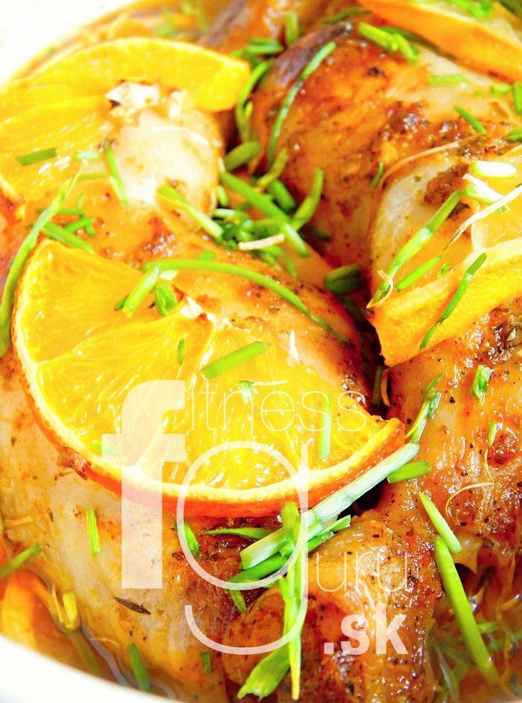 Pečené citrusovo-bylinkové kuracie stehná