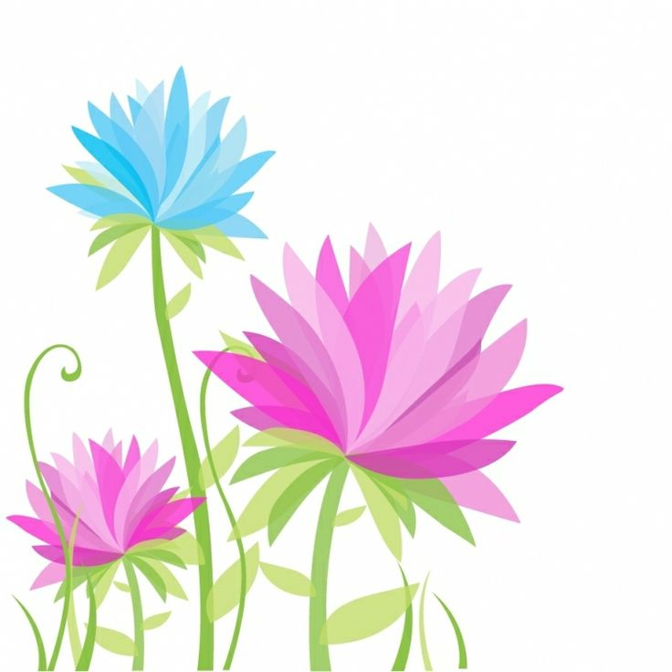 FLOWERS / Free vector Vector flower Vibrant Abstract Flowers