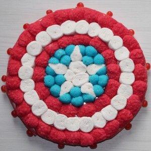 Tarta de chuches - Candy cake - Gâteau de bonbons - Snoeptaart - Captain America