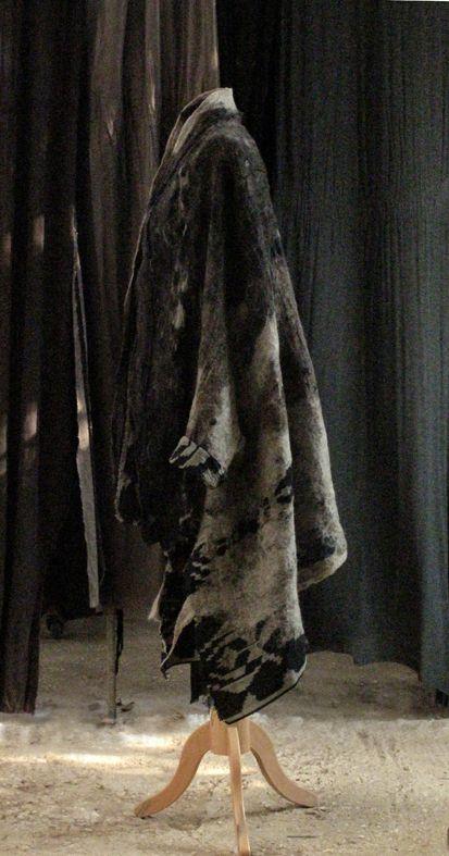 SLOWLAB FIRENZE F/W 2016 Ikat blanket coat. nuno felt. 100% merino wool