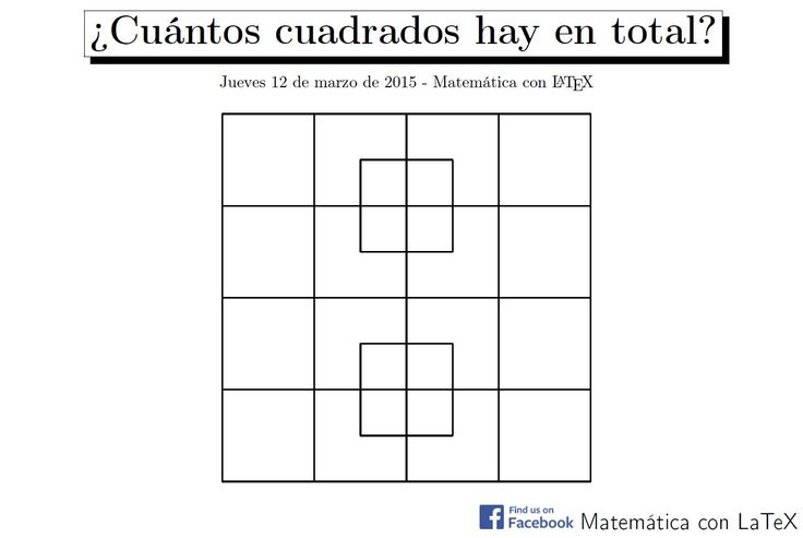 How many squares can you see?  www.facebook.com/matematicaconlatex