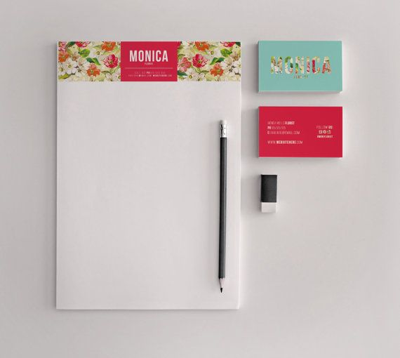 Monica double sided business card and letterhead by deideigraphic
