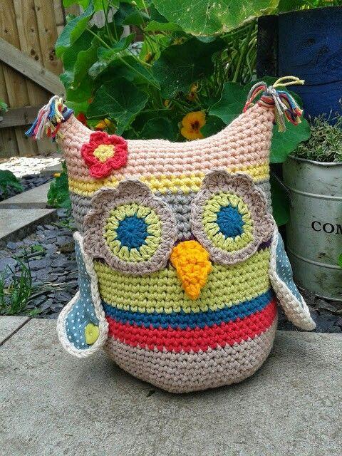 Owl doorstop...pattern by me sallyx More