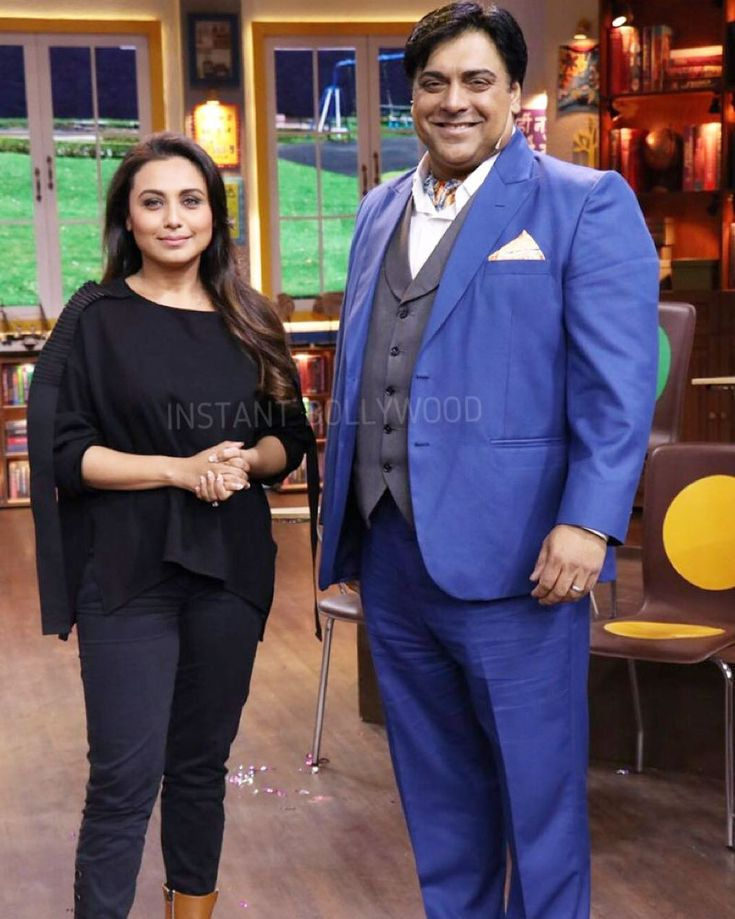 Rani Mukherji snapped with Ram Kapoor during movie promotions. @instantbollywood ❤️ ❤️ ❤️ . . #Instantbollywood #bollywood #ramkapoor #ranimukherjee #ranimukerji
