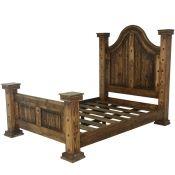 rustic cowhide bed western beds cowhide beds country beds rustic beds - Country Bed Frames