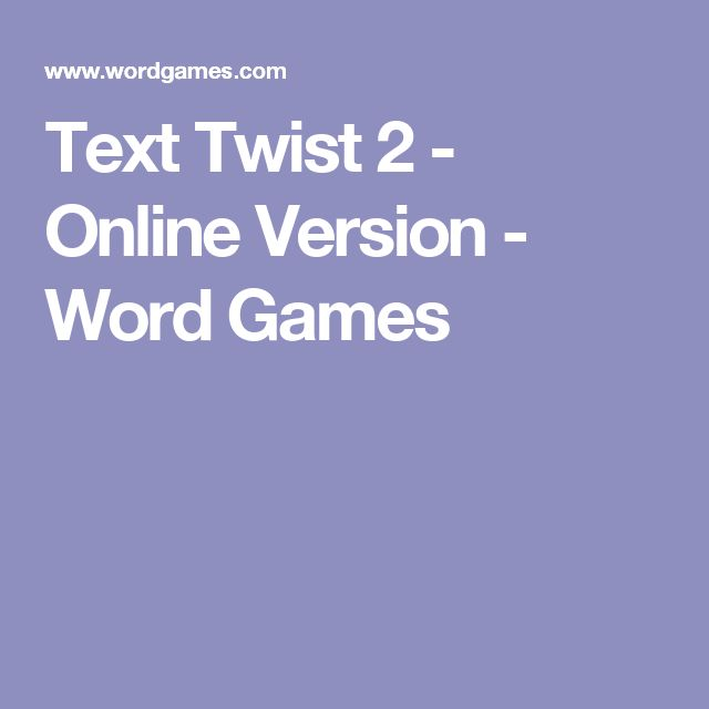 Text Twist 2 - Online Version - Word Games