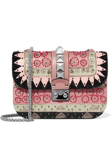 Multicoloured leather Push lock-fastening front flap Comes with dust bag Made in Italy