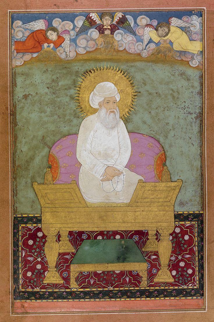 A portrait of Shaykh Abd al-Qadir Jalani enthroned, India, Mughal, circa 1680   lot   Sotheby's