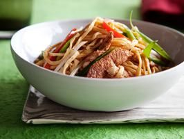 Chicken Chow Mein from Easy Chinese on the Cooking Channel. This show has allowed me to brave homemade Chinese food and I'm loving it! ---- This was the first recipe I made from Ching He Huang... So easy & delicious