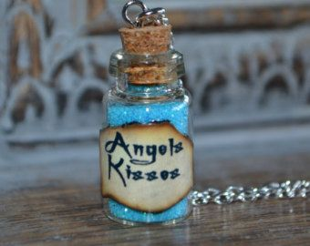 Handmade Angels Kisses small Potion Bottle Necklace