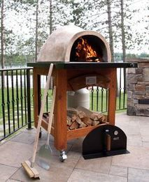 The Tuscan Series is a portable dual fuel oven that can be wheeled around easily. You can choose from a Tuscan or Terra Cotta oven.  The open cedar cabinet will look great anywhere. On your patio or deck, around the pool, on the beach, roof top.  It weighs less than 350lbs. It can be added to any one's outdoor living and entertaining area. Constructed to last generations. Forno de Pizza uses the latest technology and the best materials available.  The lightest  dual fuel oven in the market.