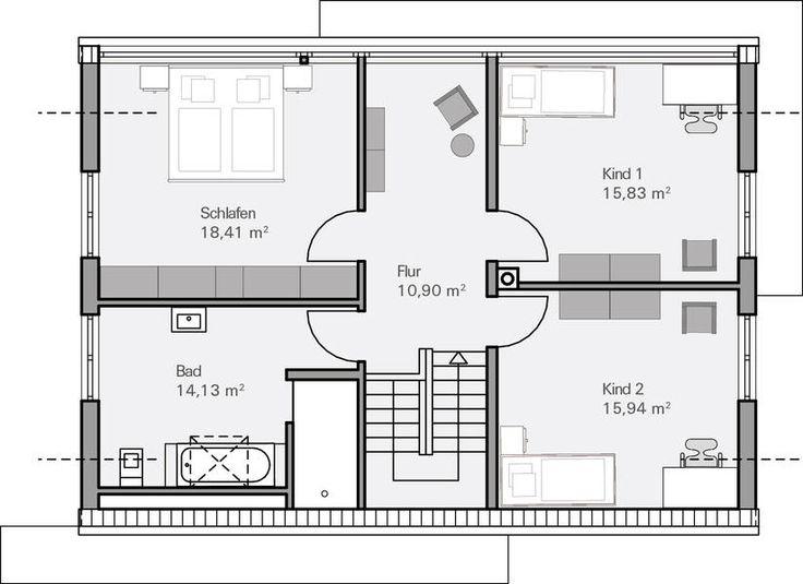 144 besten grundrisse bilder auf pinterest haus for Bauplan zweifamilienhaus