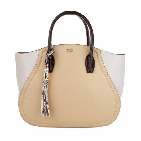 Class Cavalli Tasche – Daphne Remix Medium Tote Nude/Offwhite – in beige – Henkeltasche für Damen