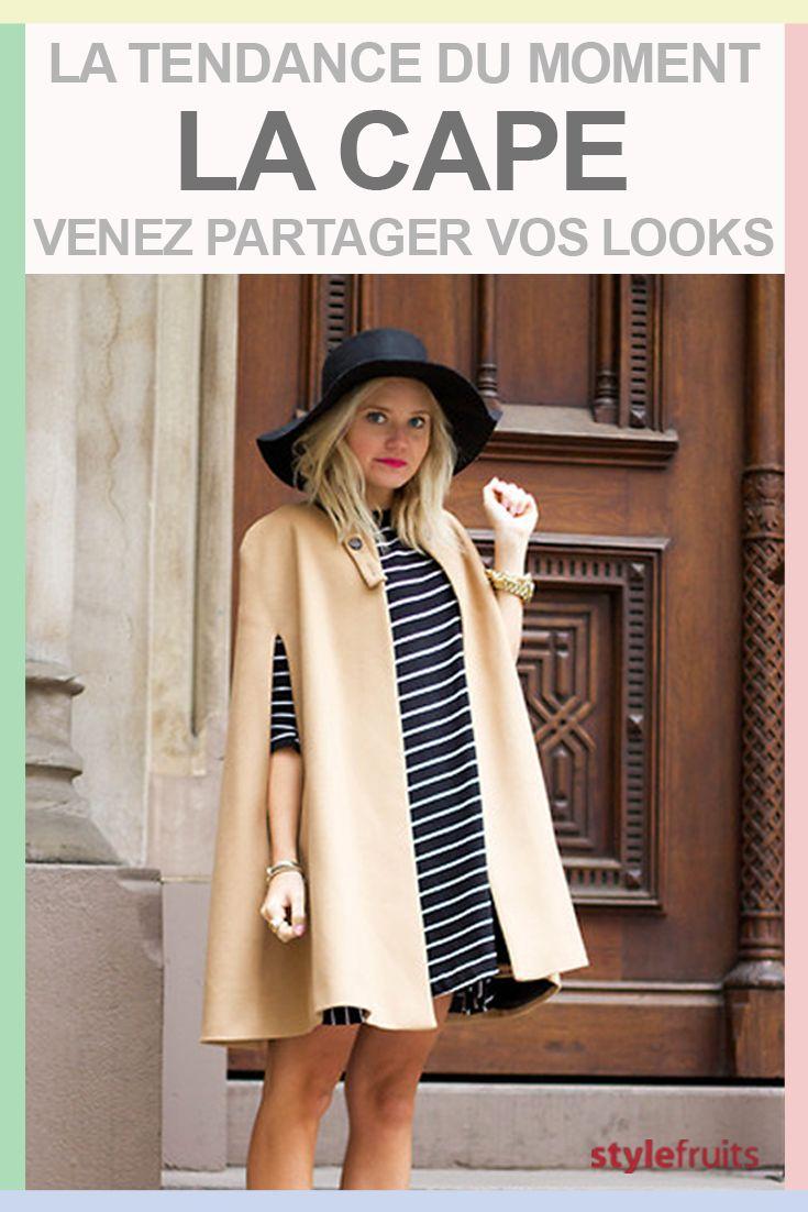 Et vous, quels sont vos conseils pour porter la tendance mode du moment: la cape? Venez partager vos idées de look ici: http://stylefru.it/s739761 #cape #tendancemode #ideelook