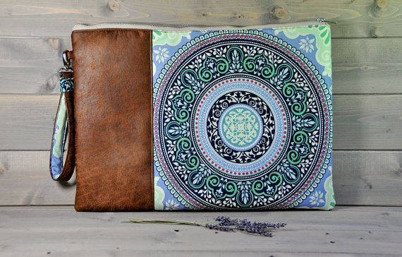 "Zipped Macbook Sleeve Laptop Case Holder MacBook Pro MacBook Air 11"" 13"" 15"" 17"" Brown Leather Blue Turquoise Green LIMITED EDITION"