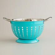 Aqua Stainless Steel Colander world market $10