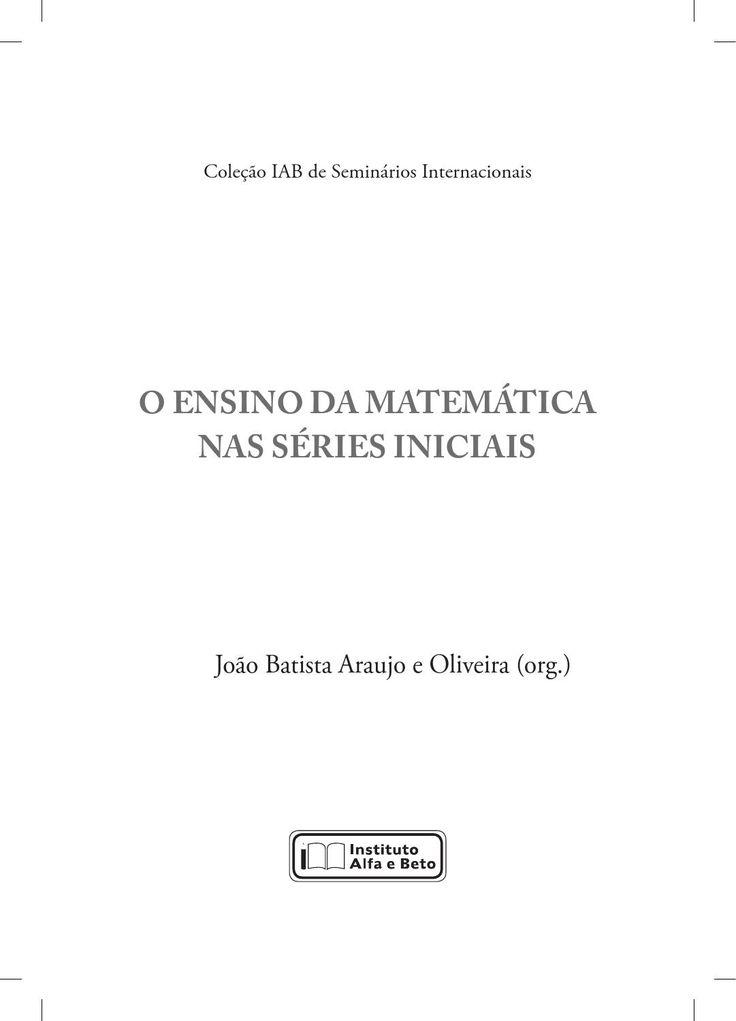 O ensino da matemática nas séries iniciais