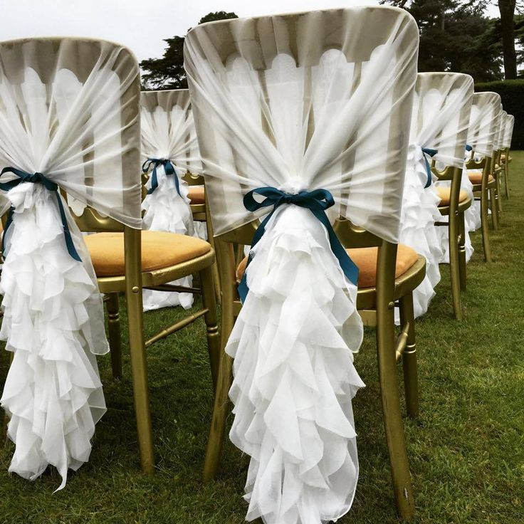 Best Chiffon Ruffle Chair Cover Hoods And Wedding Ideas For - Wedding chair covers essex