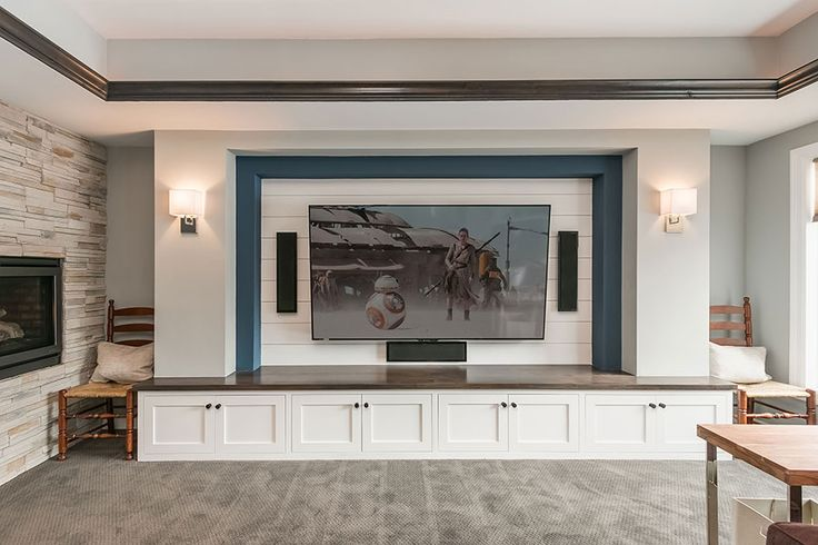 basement home theater tv wall                                                                                                                                                                                 More