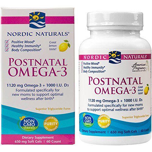 Postnatal Omega-3 helps to boost metabolism and support positive mood after pregnancy. #AD @nordicnaturals