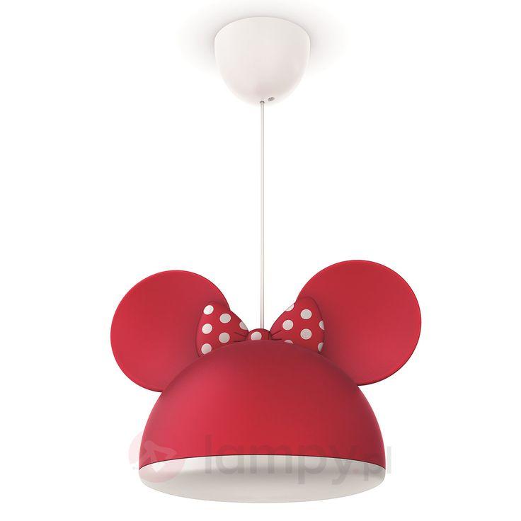 Czerwona lampa wisząca MYSZKA MINNIE z uszami 7531528