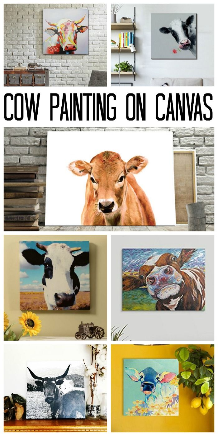 Cow Painting on Canvas: Affordable Options